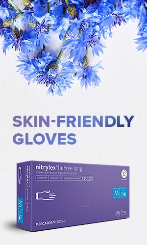 Skin friendly gloves