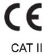 CE conformity marking (category II)